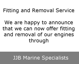 fitting and removal of our engines by JJB Marine Specialists